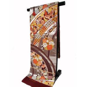 京都西陣  正絹 振袖用 袋帯 隆盛花蝶文 96 koyuki