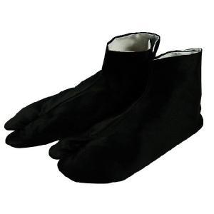 福助 紳士用  綿素材 高級 黒朱子 晒裏 足袋  四枚こはぜ ブラック 24.0〜28.0cm 3293|koyuki