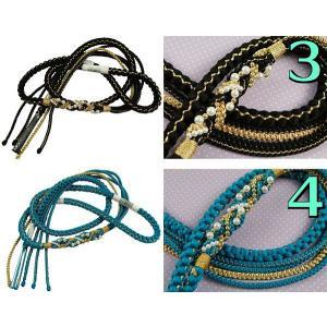 振袖用 パールビーズ飾り付き 帯締め 金糸使用 高級手組 7色 ow|koyuki|03