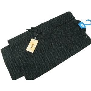キッズ 男の子用 甚平 しじら織 130cm k-142 黒|koyuki