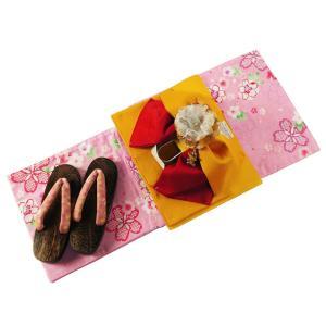 ジュニア 変わり織 ゆかた4点セット 仕立て上がり 浴衣 身丈150cm kn-21|koyuki