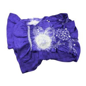 お子様用 正絹 絞り 兵児帯 子ども用 へこ帯 青紫系 od-025 1点まで ゆうメール可|koyuki