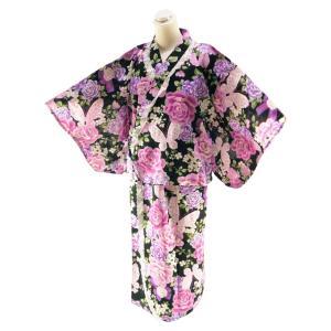 お子様用 浴衣ドレス ロング丈 ゆかた ドレス 子供浴衣 身長135〜155cm対応 jh-5|koyuki