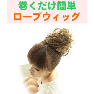 ロープ ウィッグ 簡単装着でボリュームアップ 全10色  ゆうメール可|koyuki