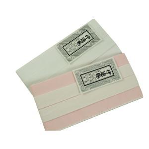 伊達締め 伊達巻 紐付 日本製 献上柄 白とピンク ゆうメール可|koyuki