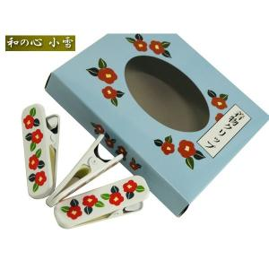 つばき 着付けクリップ ハンディークリップ 小or大サイズ 青箱入り cu-11|koyuki