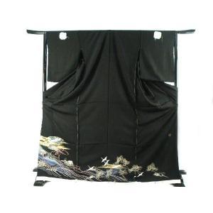 黒留袖 お仕立て・付属品一式・五つ紋入れ込み 金駒刺繍入り 豪華 正絹 黒留袖  3|koyuki