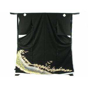 黒留袖 お仕立て・付属品一式・五つ紋入れ込み 金彩加工入り 豪華 正絹 黒留袖  4|koyuki