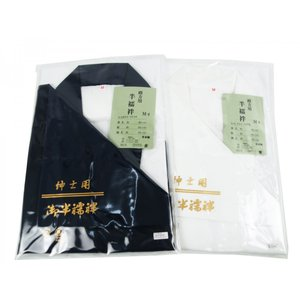 男物 半襦袢 和装用 白 紺  M・L・LLサイズ|koyuki