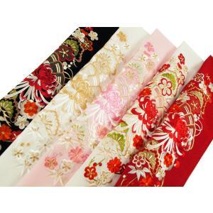 京の雅 乱菊 振袖用 シルエリー 金刺繍入り 半衿 全5色 si-1|koyuki