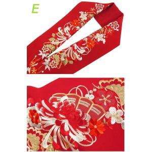 京の雅 乱菊 振袖用 シルエリー 金刺繍入り 半衿 全5色 si-1|koyuki|06
