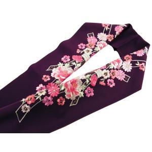 振袖用 シルエリー 刺繍入り 半衿 si-129 紫 熨斗 桜|koyuki