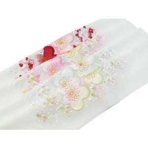 半襟 振袖・礼装兼用 太ちりめん 半衿 刺繍入り 白地 si-206 うめ 全4色 2点まで ゆうメール可|koyuki