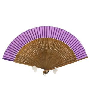 竹製 シルク 紳士用 扇子 パープル 日本土産 sm-77 4点まで ゆうメール可|koyuki