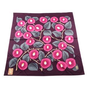 夢二 むす美 つばき 大判 風呂敷 日本製 濃紫 sy-33 2点までゆうメール可|koyuki