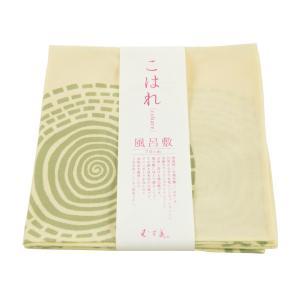 こはれ むす美 薄緑 まるとしかく 風呂敷 日本製 sy-95  ゆうメール可|koyuki