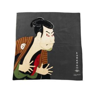 訳あり ちりめん 風呂敷 浮世絵 歌舞伎 ti-90 ゆうメール可|koyuki