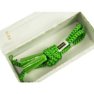 羽織紐 男物 高級 正絹 カラフル 丸組 グリーン hs-32|koyuki