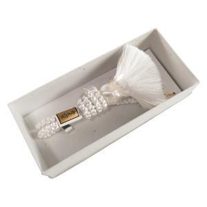 婚礼用 成人式 くみひも 羽織紐 男物 ホワイト 一つ房 hs-47 定番|koyuki