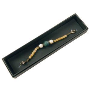 女性用 羽織紐 天然石 オリジナル 48-9 フローライト|koyuki