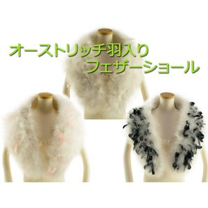 マラボー オーストリッチ羽入り フェザーストール 羽毛ショール 箱入り 単品 sy-30 全3色|koyuki