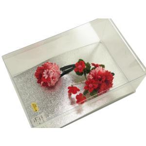 お子様用 髪飾り 七五三にも 花束モチーフ ck-58 赤とピンク ビーズ付き 2個セット|koyuki