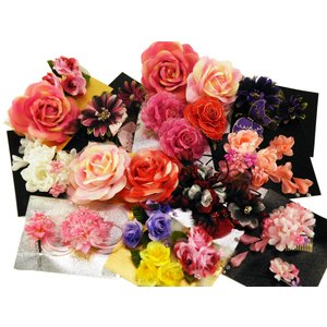 50%OFF 髪飾り 振袖 浴衣 ドレスに お花の 髪飾り 和装 着物 成人式 全12タイプ kk-199|koyuki