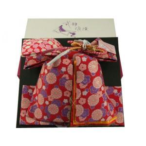 式部浪漫 七五三7歳用 帯飾り付 結び帯 単品 新品 レッド SKO-1|koyuki