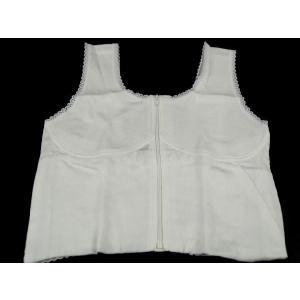 フロントファスナー式で簡単装着 和装ブラジャー 汗取りガーゼ使用  M・L・LL・EL|koyuki|02