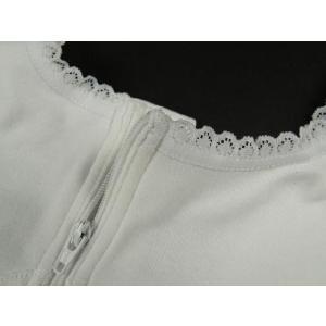 フロントファスナー式で簡単装着 和装ブラジャー 汗取りガーゼ使用  M・L・LL・EL|koyuki|03