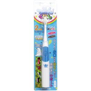つるんくりん 音波振動歯ブラシ 子供用 ブルー JS002BL|kozukata-m