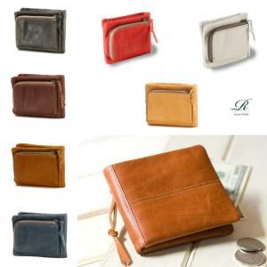 【豊岡製】(6color)スペイン牛革(仔牛革)手絞りオイル仕上げ 二つ折り財布(re-010)|kpg