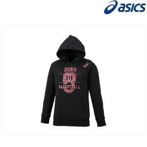 アシックス asics バスケットウェア ジュニア Jr.プリントスウェットフーディー 2064A007-001 2018FW|kpi24