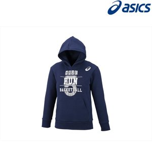 アシックス asics バスケットウェア ジュニア Jr.プリントスウェットフーディー 2064A007-400 2018FW|kpi24