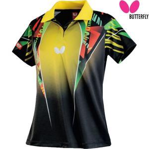 バタフライ Butterfly 卓球ウェア レディース 卓球 ゲームシャツ スペーシア・シャツ 45319-085 2018SS|kpi24