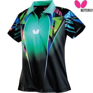 バタフライ Butterfly 卓球ウェア レディース 卓球 ゲームシャツ スペーシア・シャツ 45319-138 2018SS|kpi24