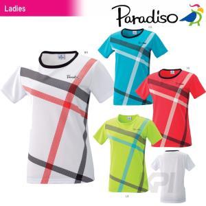 テニスウェア レディース パラディーゾ PARADISO レディースゲームシャツ 56CL9A テニスウェア|kpi24