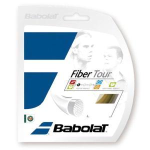 「新パッケージ」「■5張セット」BabolaT(バボラ)「ファイバーツアー130 BA241112」テニスストリング(ガット)|kpi24