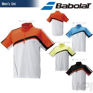 テニスウェア ユニセックス バボラ Babolat ジップアップゲームシャツ BAB-1614 2016SS [ネコポス可]|kpi24