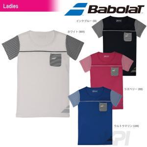 『即日出荷』「2017新製品」Babolat バボラ 「Women's レディース ショートスリーブシャツ BAB-1742W」テニスウェア「2017SS」[ネコポス可]|kpi24