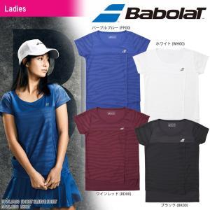 バボラ Babolat テニスウェア レディース SHORT SLEEVE SHIRT ショートスリーブシャツ BTWLJA00 2018SS|kpi24