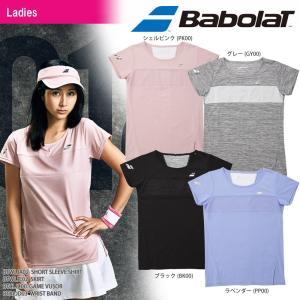 バボラ Babolat テニスウェア レディース SHORT SLEEVE SHIRT ショートスリーブシャツ BTWLJA02 2018SS[ポスト投函便対応]|kpi24