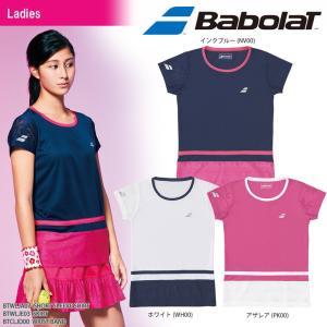 バボラ Babolat テニスウェア レディース SHORT SLEEVE SHIRT ショートスリーブシャツ BTWLJA07 2018SS|kpi24