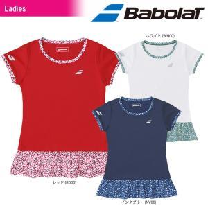 バボラ Babolat テニスウェア レディース SHORT SLEEVE SHIRT ショートスリーブシャツ BTWLJA11 2018SS[ネコポス可]|kpi24