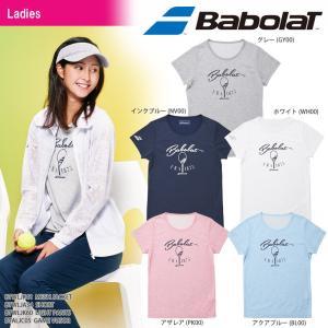バボラ Babolat テニスウェア レディース SHORT SLEEVE SHIRT ショートスリーブシャツ BTWLJA34 2018SS[ポスト投函便対応]|kpi24