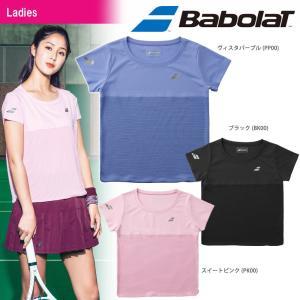 バボラ Babolat テニスウェア レディース ショートスリーブシャツ BTWMJA00 2018FW|kpi24