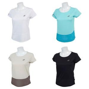 バボラ Babolat テニスウェア レディース ショートスリーブシャツ SHORT SLEEVE SHIRT BTWNJA01 2019SS「ランドリーバッグプレゼント対象」|kpi24