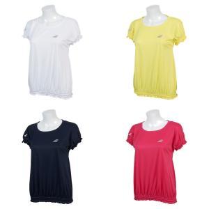 バボラ Babolat テニスウェア レディース ショートスリーブシャツ SHORT SLEEVE SHIRT BTWNJA15 2019SS「ランドリーバッグプレゼント対象」|kpi24
