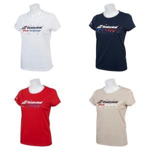 バボラ Babolat テニスウェア レディース ショートスリーブシャツ SHORT SLEEVE SHIRT BTWNJA35 2019SS|kpi24