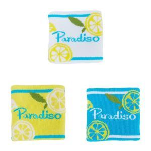 パラディーゾ PARADISO テニスアクセサリー レディース レモンリストバンド BWC92|kpi24